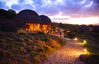 Kwena Main Lodge at night