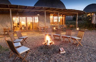 Kwena Main Lodge out under the stars