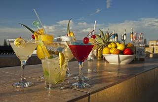 Enjoy Cocktails on the Roof Terrace