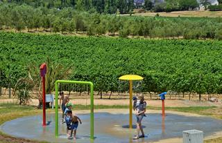 Splash pad at Pizza Vista