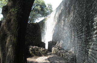 The mysterious ruins of Great Zimbabwe - a 10 minute drive away from us.