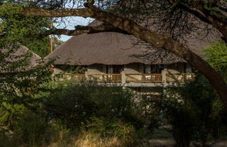Block of Luxury rooms overlooking Chobe National Park