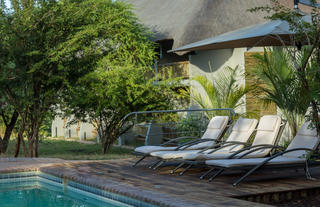 Pool area Chobe Bush Lodge