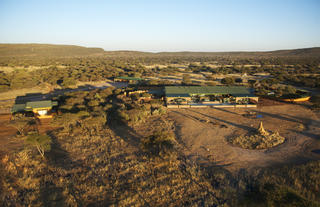 Okonjima Plains Camp arial view