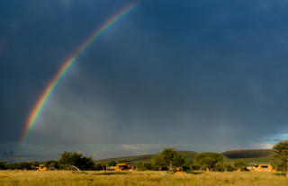 Rainy afternoon overlooking Okonjima Plains Camp